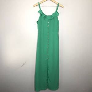 Spense Woven Button Front Maxi Dress Size 8